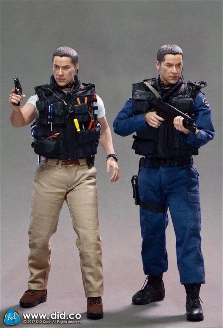 """1//6 Scale 12/"""" LAPD Swat 90s Kenny Action Figure"""