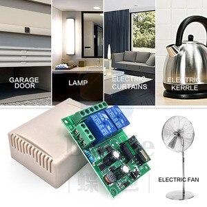 Image 2 - 433 MHz kablosuz evrensel uzaktan kumanda anahtarı AC 110V 220V 2CH rf röle alıcı ve verici garaj ve kapı kontrolü