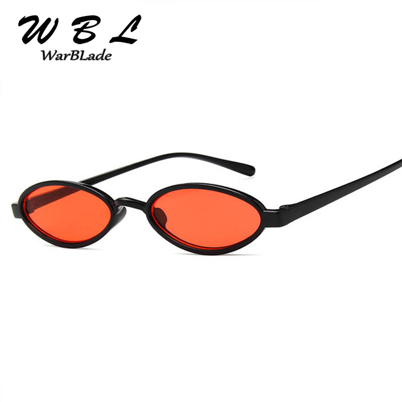 WarBLade Vintage Small Oval Sunglasses Women Round Metal Frame Steampunk Sunglasses Women Shade Glasses Retro UV400
