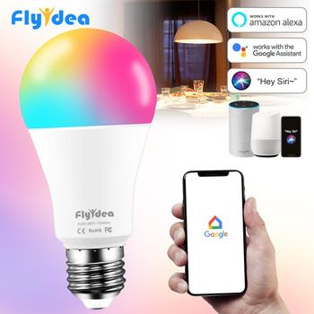 15W Smart Bulb E27 B22 RGB WiFi LED Lamp magic bulb Dimmable light bulb AC 110V 220V by Alexa Google Home Siri Voice Control