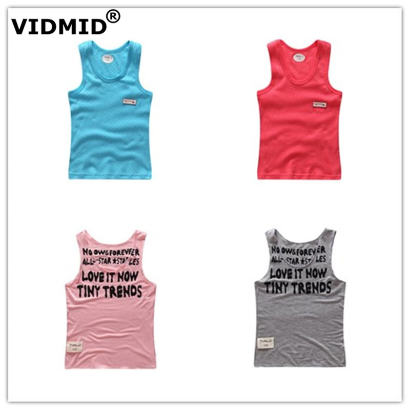 VIDMID Summer Boys Sleeveless T-shirt  Children Outerwear Boys Vests Clothes Kids Tanks Boys Cotton Colorful Vest  T-shirts C3