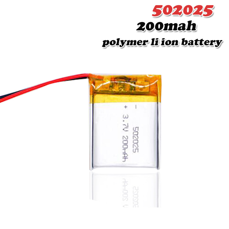 200mAh 3.7V 502025 Lithium Polymer Li Po li ion Rechargeable Battery For toys speaker Tachograph MP3 MP4 GPS Bluetooth Lipo cell|Rechargeable Batteries| |  - title=