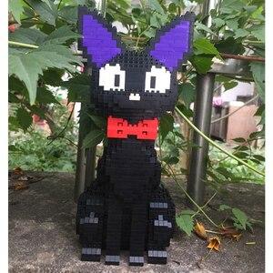 Image 4 - באבו 8806 קריקטורה JiJi שחור חתול לשבת בעלי החיים חיות מחמד 3D דגם 1780pcs DIY יהלומי מיני אבני בניין לבני צעצוע לילדים אין תיבה