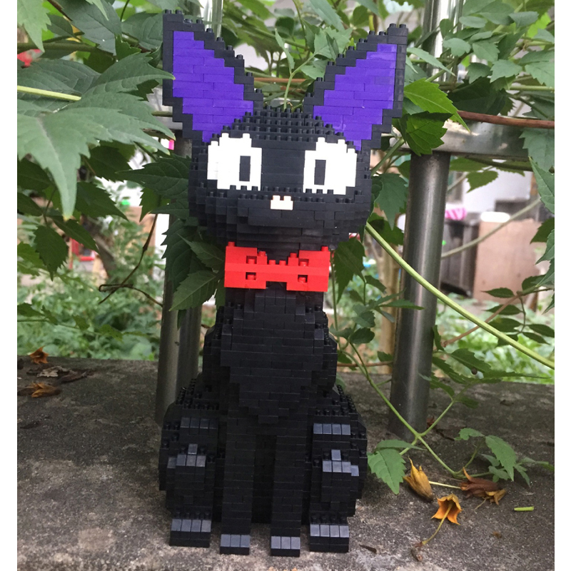 Image 4 - Babu 8806 Cartoon JiJi Black Cat Sit Animal Pet 3D Model 1780pcs DIY Diamond Mini Building Blocks Bricks Toy for Children no BoxBlocks   -