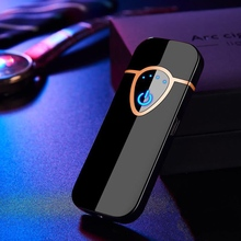 Charging Fashion Electric Lighter popular USB Mini Lighters Tungsten Touch Screen Sensor tobacco Cig
