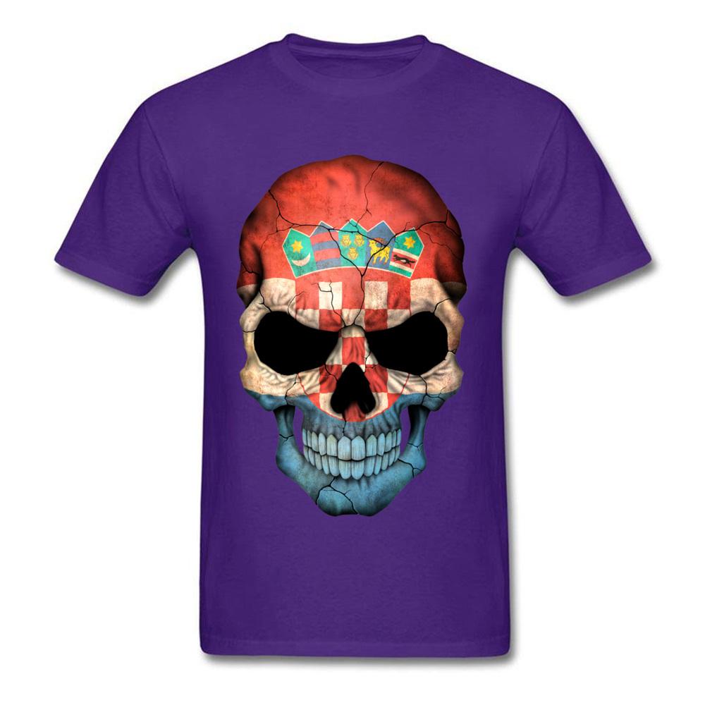 Croatian Flag Skull_purple