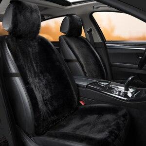 Image 3 - מושב מכונית כיסוי חורף קטיפה פרווה רכב מושב מגן אוטומטי מושב כרית עם Bakrest וכובע מתאים ביותר רכב משאית SUV ואן