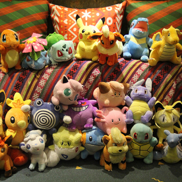 Pikachu détective Anime Mew écumer Vulpix Eevee ronflement Bulbasaur peluche douce griffe machine poupée jouets pour enfants cadeau de fête