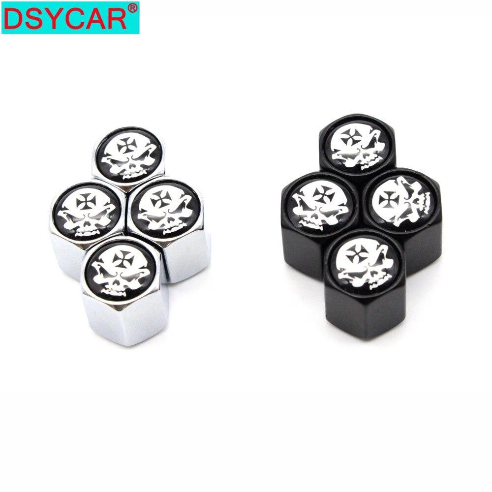 4pcs Bicycle tire valve caps universal dustproof tire wheel stem air valve cap G