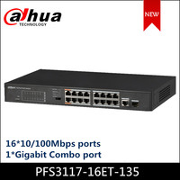 Dahua 16 Port PoE Switch FE PoE+ 1 Port Gigabit Combo PoE Switches PFS3117 16ET 135