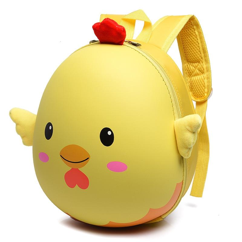Kids 3D Chick School Bags Animal Cartoon EVA Backpack For Kindergarte Children Girls Hard Shell Backpacks Boy Mochila Infantil