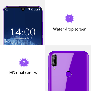 "Image 3 - OUKITEL C16 5,71 ""HD + 19:9 de agua inteligente huellas digitales Android 9,0 teléfono móvil MT6580P 2G RAM 16G ROM 2600mAh desbloquear"