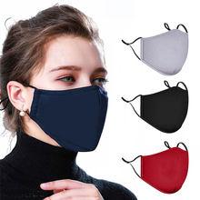 Máscara protetora protetora respirável dos tampões da boca do filtro da gripe da poeira máscara não tecida descartável da cara da boca de 3/4 pces
