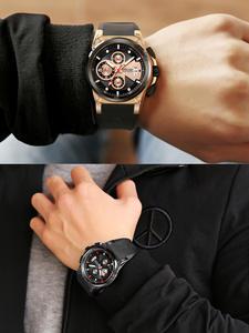 Мужские кварцевые часы с календарем, спортивные водонепроницаемые часы с календарем