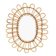 Nordic Style Wicker Wall Mount Mirror Hanging Macrame Fringe Round Decor For Apartment Living Room Bedroom Supplies