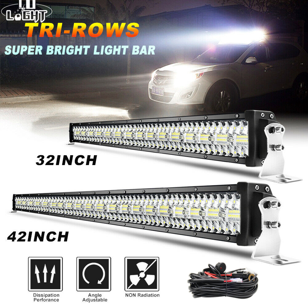 CO LIGHT 22-52'' 3-Rows LED Light Bar 390W 585W 780W 936W 975W Flood Spot Combo Beam Offroad Led Bar For Tractor UAZ 4x4 12V 24V