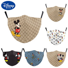 Mickey Minnie Disney face masks 3D Printing Party Decoration Cartoon Adult Washable Anti-Dust Reusable Breathable Mouth Cover