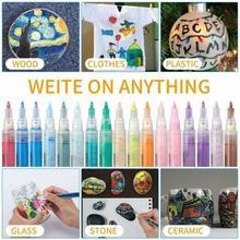 24/12/4 colors Waterproof Crystal Shell Mark Pen Graffiti Paint Marker Kids Drawing Pen Permanent Coloring Student Decorations