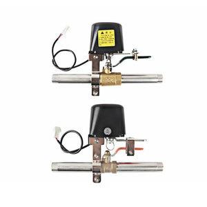 "Image 2 - Wifi Gas Pijpleiding Automatische Manipulator Valve Ball 1/2 ""3/4"" DN15 DN20 Valve Voor Gas/Water Uitschakeling Cut off Vlinderklep 12V"