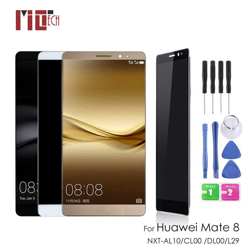 Display lcd para huawei companheiro 8 mate8 mt8 NXT-AL10 NXT-CL00 NXT-DL00 NXT-L09 display lcd de toque digitador da tela montagem