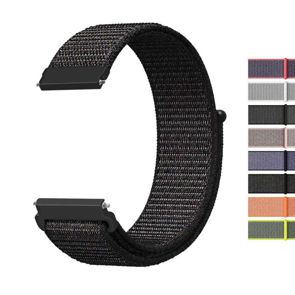 22mm 20mm ניילון להקת רצועת עבור Samsung הילוך S3 Frontier/קלאסי עבור ציוד S2 קלאסי ספורט לולאה להקות קל משקל לנשימה