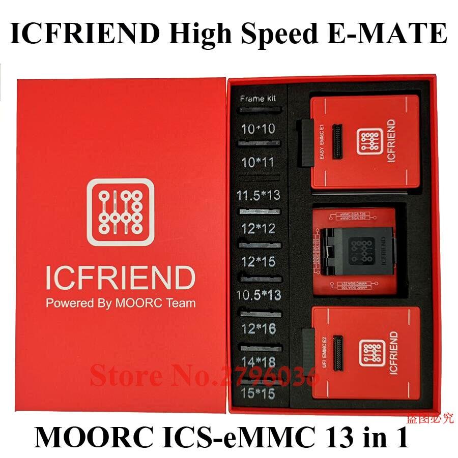 2020 MOORC Emmc Box E-MATE X E MATE PRO BOX EMMC BGA 13 IN 1 SUPPORT 100 136 168 153 169 162 186 221 529 254  With Easy Jtag