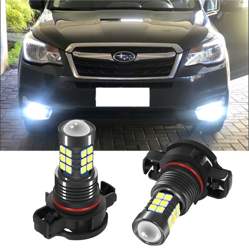 2PCS H3 9006 BH4 <font><b>H16</b></font> 5202 EU <font><b>LED</b></font> Fog Light Bulb For Subaru Forester WRX Outback Legacy Tribeca Car Driving Running <font><b>Lamp</b></font> image