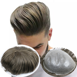 Men's Wig Transparent PU Men Toupee Men's Hair Pieces Unit Hair Replacement System Brown Color 8x10inch Wig for Men(China)