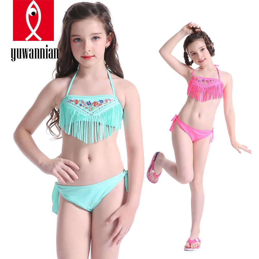 Kids Baby Girls 2-Piece Swimming Bikini Costume Swimwear Swimsuit Beach Clothes