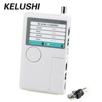 KELUSHI NF3468 4 в 1 сетевой кабель тестер RJ11/ RJ45/ USB/ BNC сетевой ланцет локатор