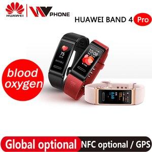 Image 1 - Huawei להקת 4 פרו SmartBand קצב לב בריאות צג העצמאי GPS פרואקטיבית בריאות ניטור SpO2 דם חמצן