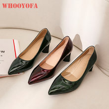 Quality 2020 New Comfortable Wine Red Green Women Pumps Fashion High Heels Lady Shoes WS302 Plus Big Small Size 10 30 43 46 48(China)