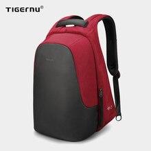 Tigernu moda feminina casual mochila anti roubo 15.6 polegada portátil à prova dusb água de carregamento usb viagem alta qualidade mochilas sacos