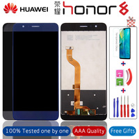 5.2 Original Display For Huawei Honor 8 LCD Touch Screen with Frame Replacement for Huawei Honor8 LCD FRD L19 L09 L14 +Gifts