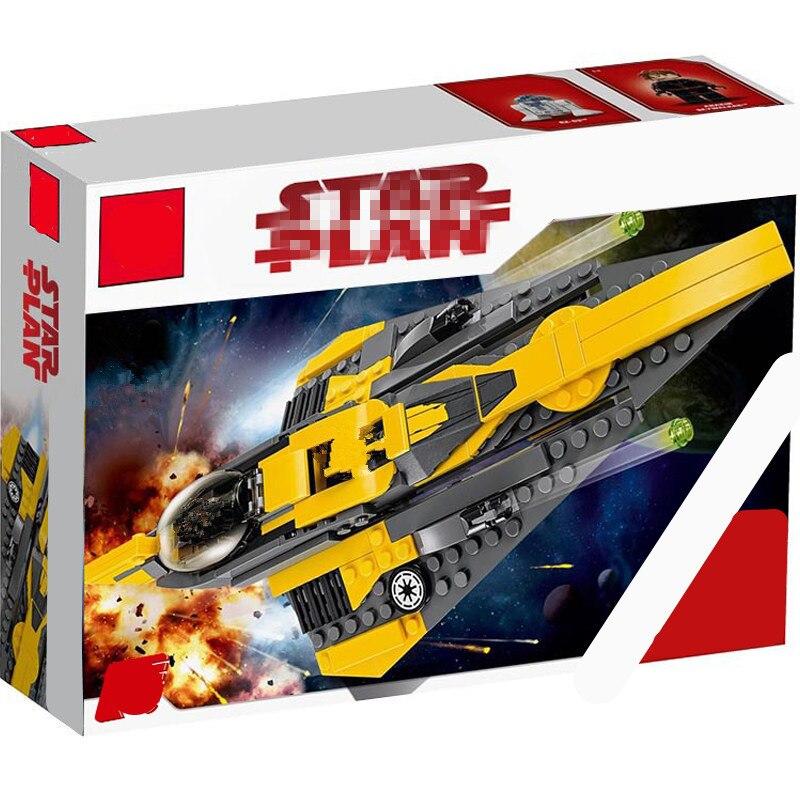 Compatible  Star Plan Wars Starwars Anakin's Jedi Starfighter Building Blocks Building Educational Toys For Children