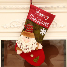 Xmas Tree Hanging Ornament Christmas Decor Sock Candy Gift Bag Stocking TN88
