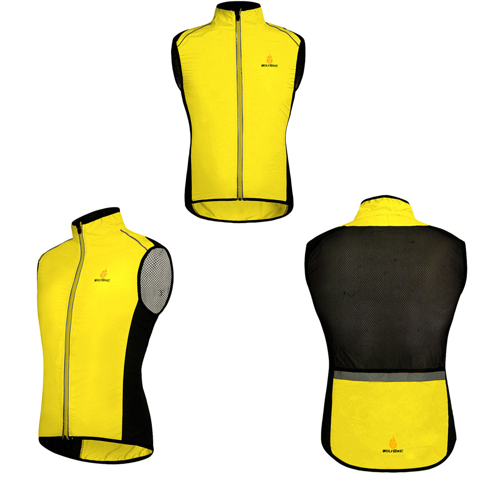 WOSAWE Motorcycle Jacket Sleeveless Reflective Vest Motocross Clothing Breathable Quick Dry Water Resistance Waistcoat 4