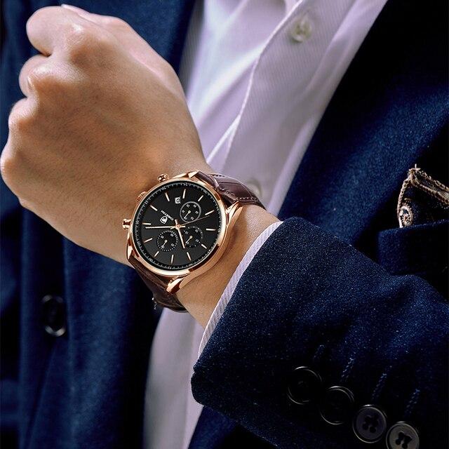 2021 New Men Watch CHEETAH Waterproof Quartz Men Watches Chronograph Sport Wristwatch Leather Business Male Clock Watch With Box 5