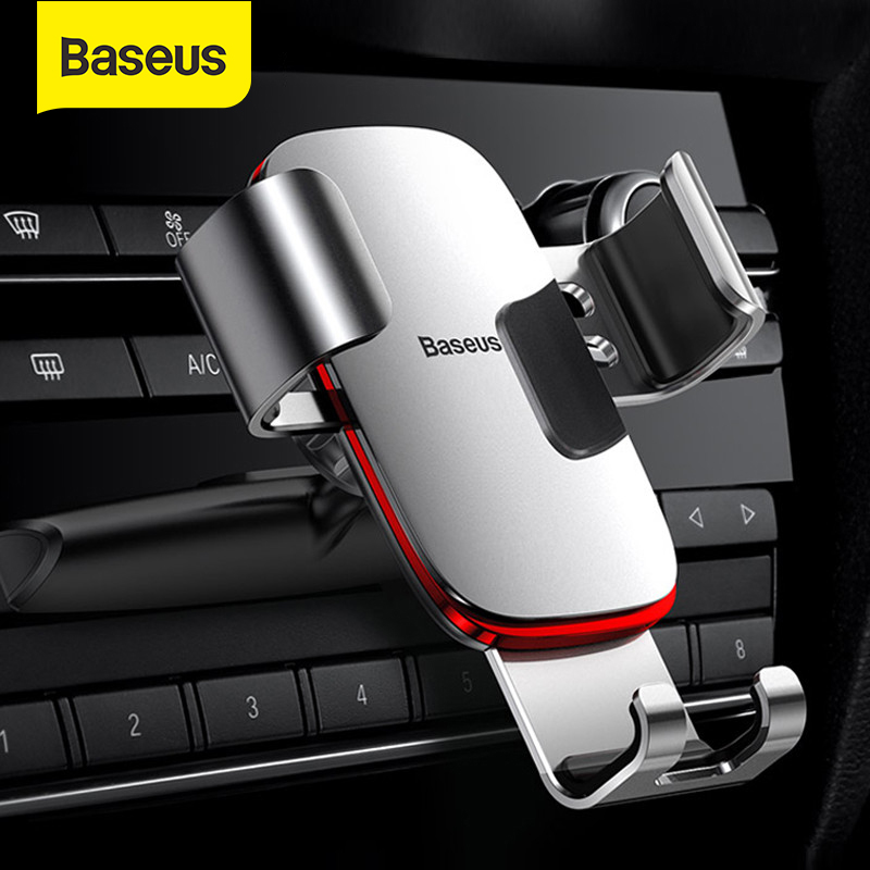 Baseus Gravity Car Phone Holder 360 Rotation Mobile Phone Clip Holder Stand Bracket CD Slot Mount Holder For IPhone Samsung