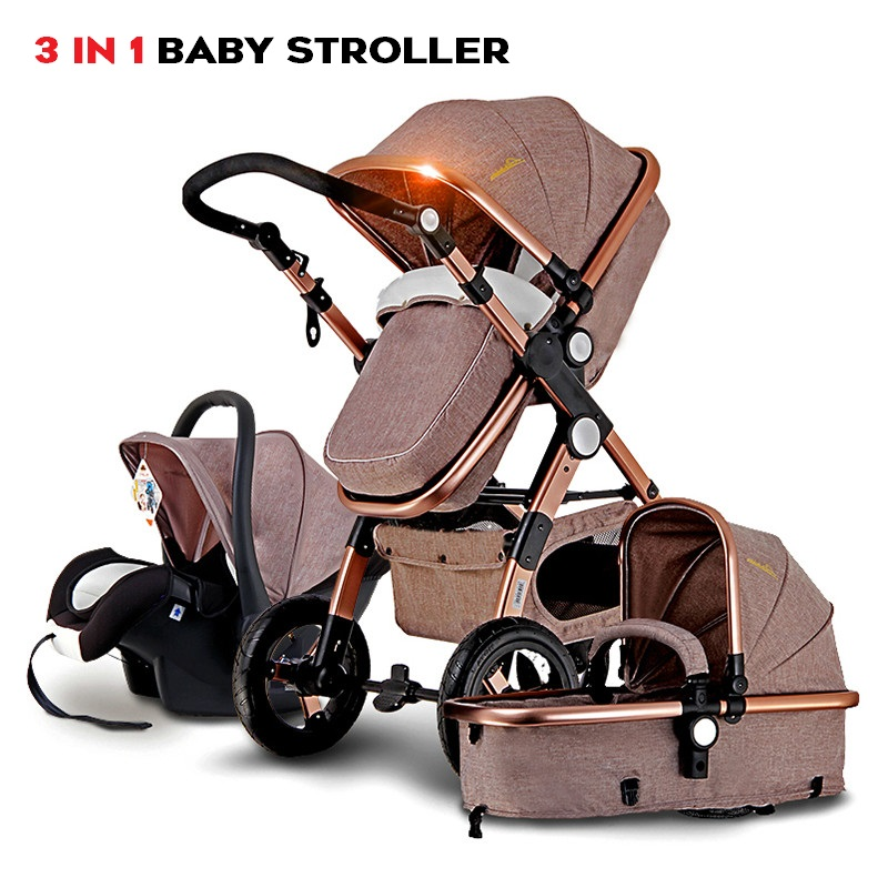 <font><b>Baby</b></font> Stroller For Newborn <font><b>3</b></font> <font><b>in</b></font> <font><b>1</b></font> <font><b>Baby</b></font> Car With Infant Basket Safey Seat Folding <font><b>Pram</b></font> Travel Systems carrinho de bebe <font><b>3</b></font> em <font><b>1</b></font> image