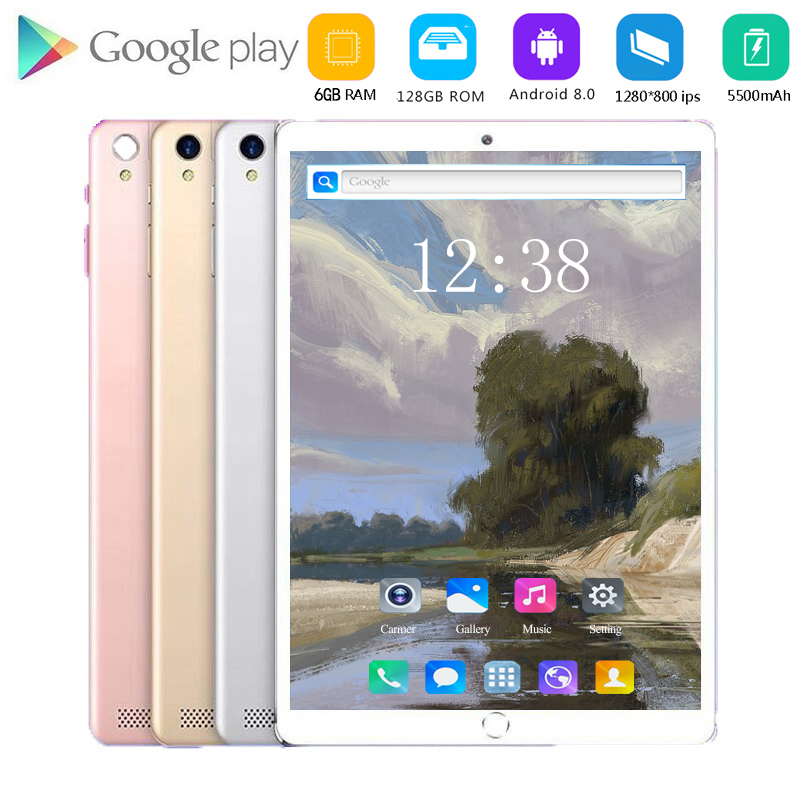 2020 Super Tempered 10 Inch Tablet Android 8.0 Deca Core 6GB RAM 128GB ROM 10 Cores 1920*1200 IPS Screen Tablets Kids Tablets