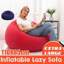 110x85cm Beanless Bag Inflatable Chair Lounger Seat Bean Bag Sofas Pouf Puff Couch Tatami Living Room Lazy Inflatable Sofa Chair