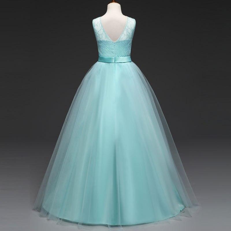 Welp Girls maxi dress Wedding Kids Prom Long Dress Lavender Light Blue WG-66