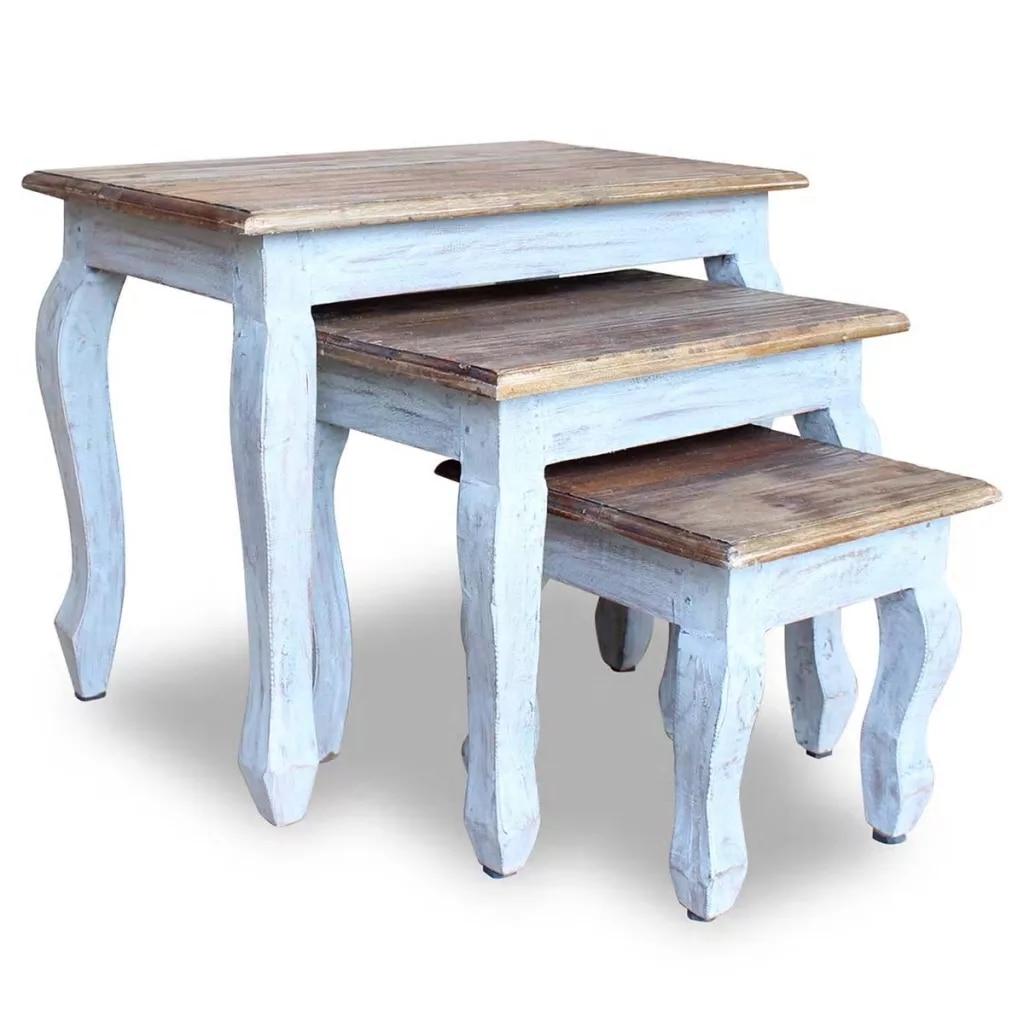 Набор журнальных столиков из 3 предметов, Простой натуральный дизайн, журнальные столики ручной работы, настольная лампа/стойки для