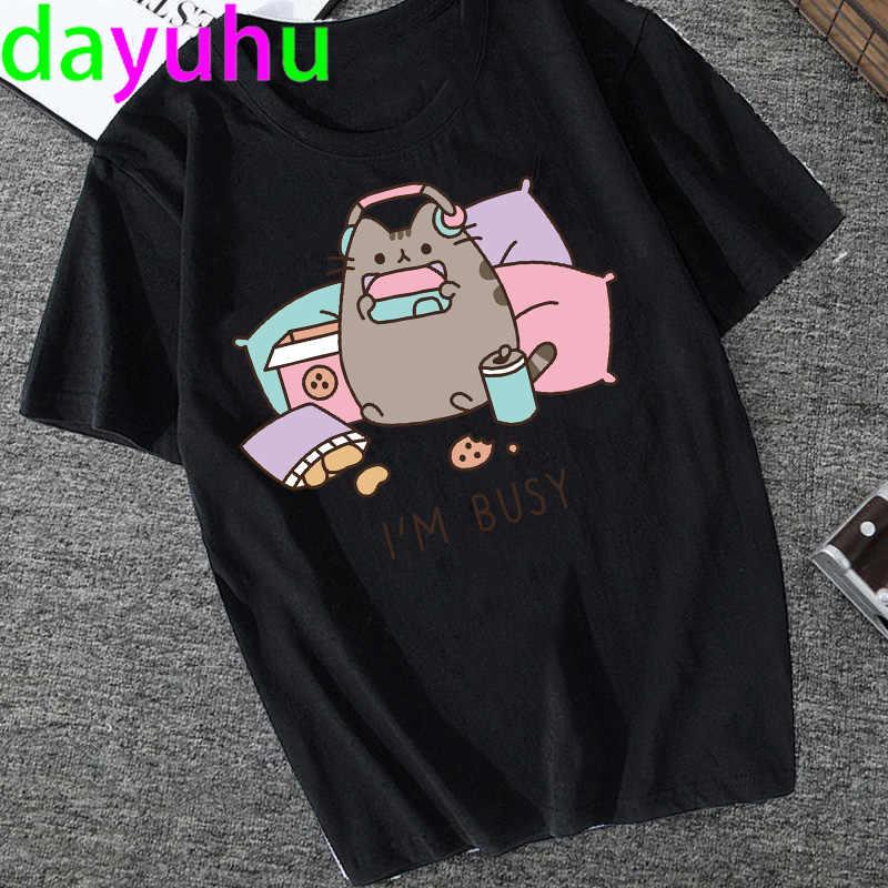 Avocado Kawaii Harajuku Korte Mouwen T-shirts Vrouwen Ullzang Grappige Kat T-shirt Leuke 90S Tshirt Mode Grunge Top Tees vrouwelijke