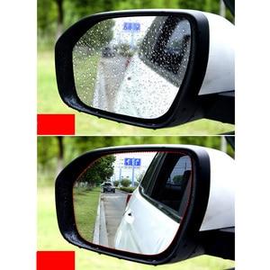 Image 4 - 2Pcs Waterproof Nano Stickers Car Rear View Mirror Protective Film Anti fog Window Clear Rainproof Rearview Mirror