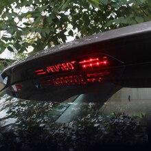 Remendo de aço inoxidável da luz de freio alta da luz de freio da modificação para peugeot 4008