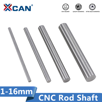 XCAN 2pcs 1-16mm CNC Lathe Rod Shaft 100mm Long Linear Shaft 3D Printer Chromed Round Shaft