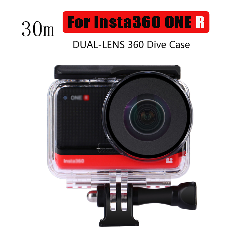 DUAL Lens 360 Mod Dive Case For Insta360 ONE R Waterproof Housing Box Protective Shell For Insta360 R Panoramic Camera
