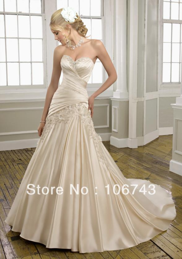 Free Shipping 2020 New Style Hot Sale Sexy  Bride Sweet Princess Custom Size Criss-cross Lace Beading Wedding Dress/gown/wear